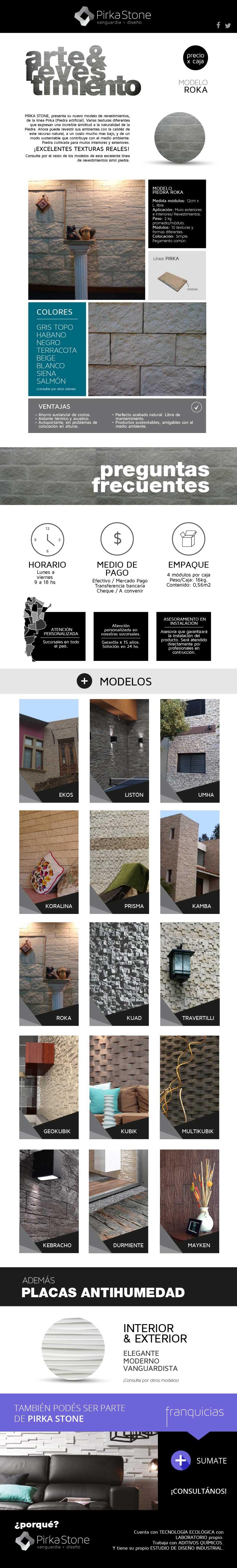 Revestimientos piedra roca soluci n para la humedad - Tipos de revestimientos exteriores ...