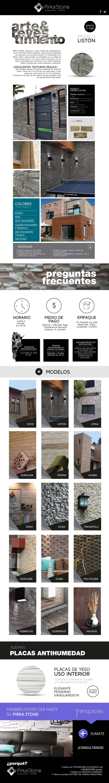 Nueva tecnología aplicada a la reproducción de imitación de piedras para muros interiores y exteriores.